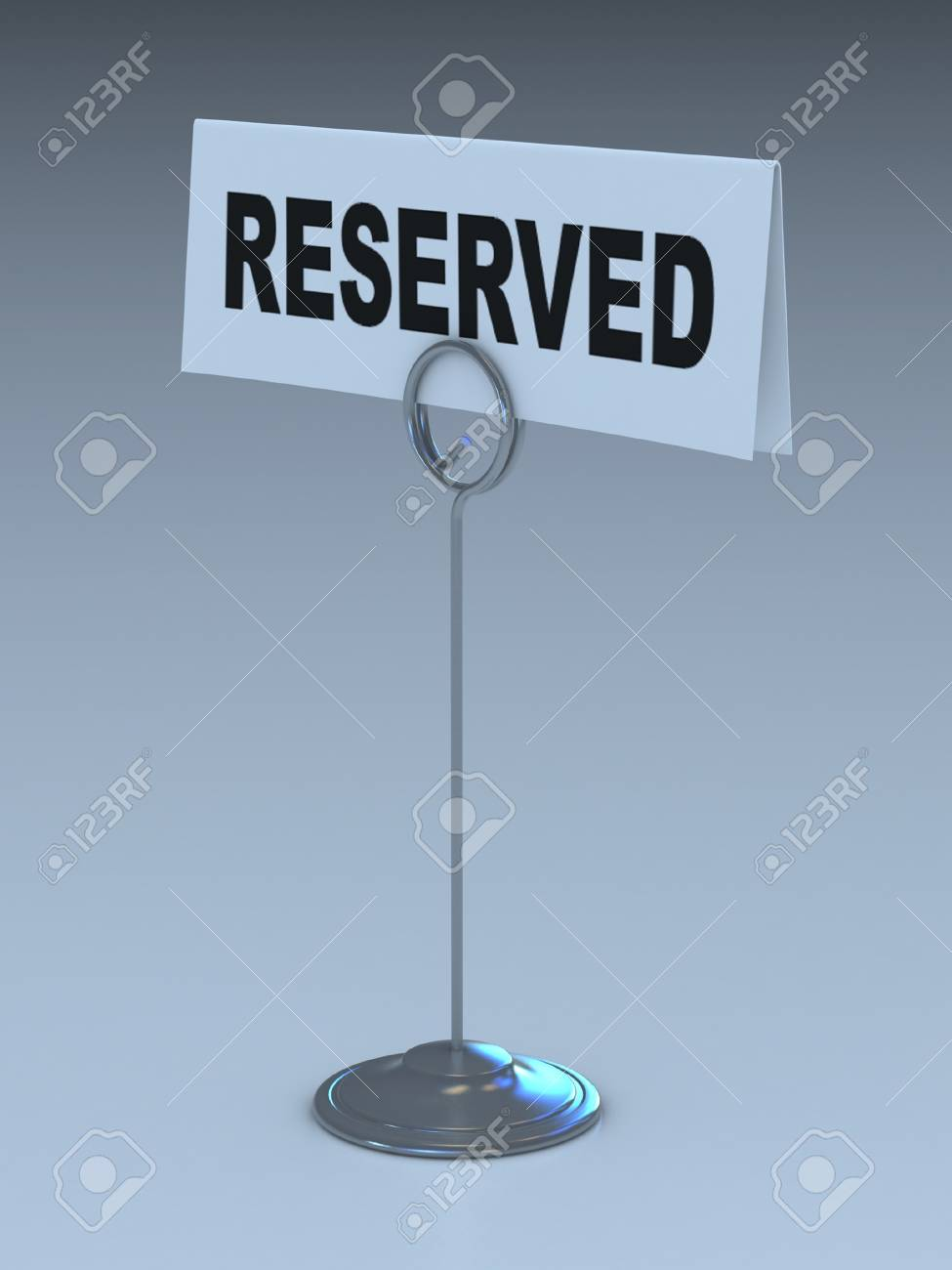 reserved sign 3d illustration Stock Illustration - 12558323