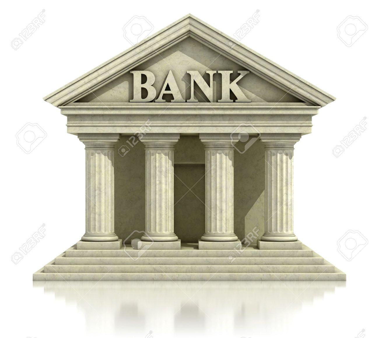 3d Banque Isolee Sur Le Blanc Banque D Images Et Photos Libres De Droits Image 12557979