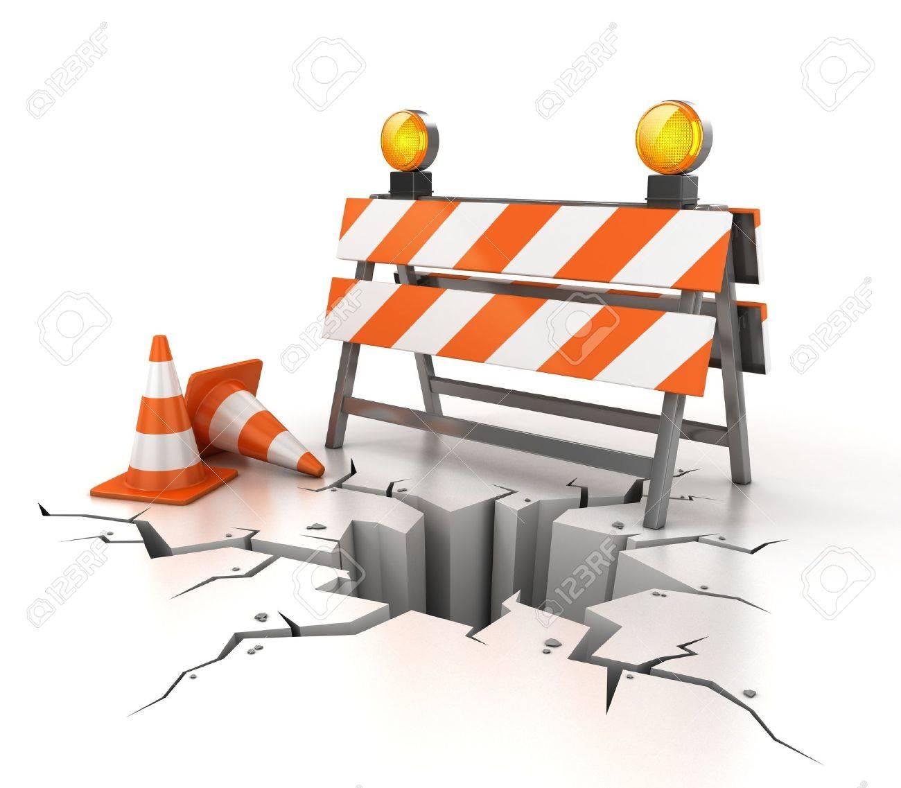 under construction 3d illustration Stock Illustration - 12557829