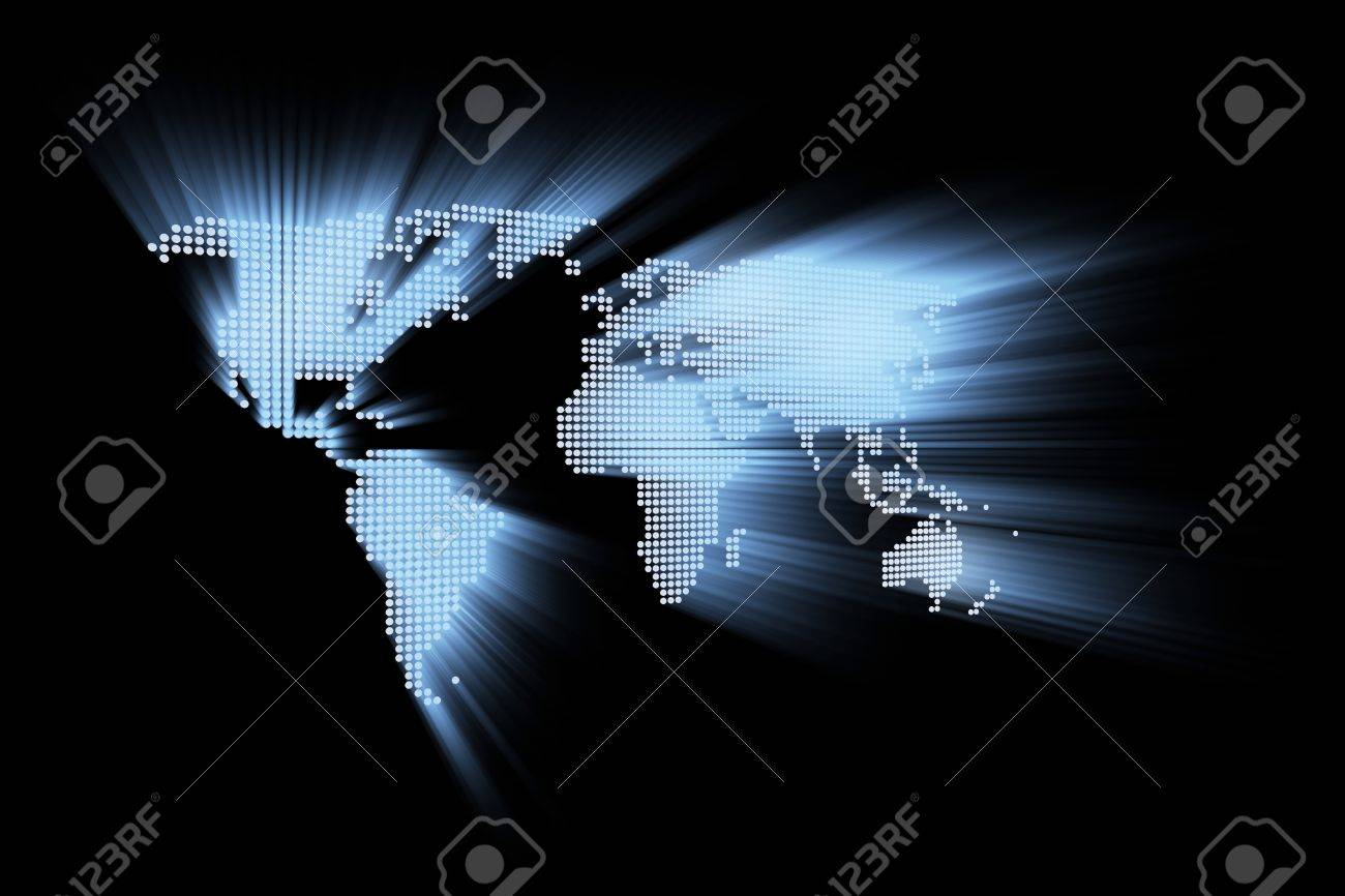 abstract hi-tech world map Stock Photo - 12557550