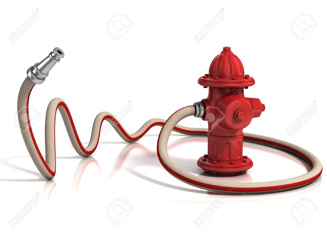 fire hydrant with fire hose 3d illustration Stock Illustration - 16592723  sc 1 st  123RF.com & Fire Hydrant With Fire Hose 3d Illustration Stock Photo Picture And ...