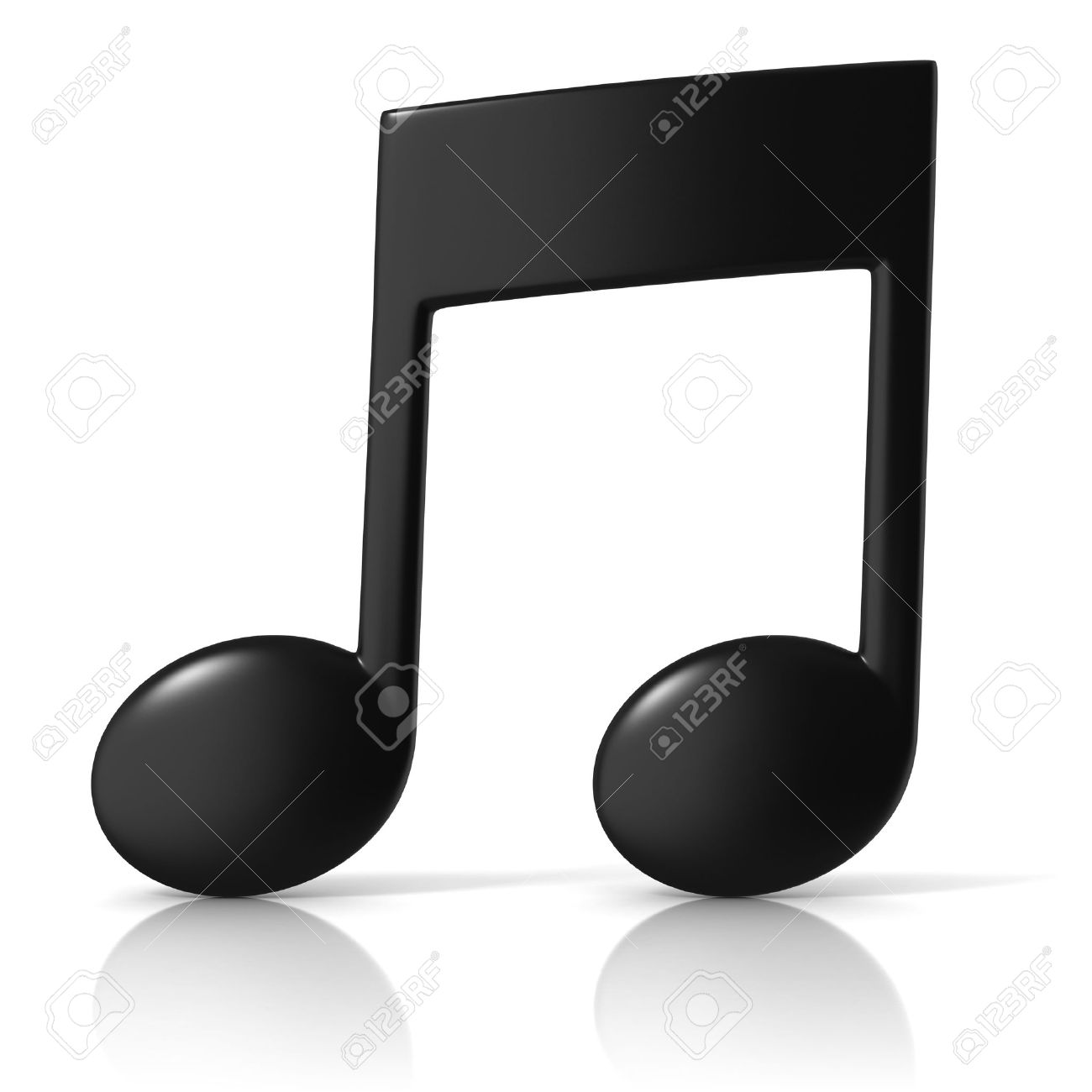 music note 3d icon on white background stock photo picture and