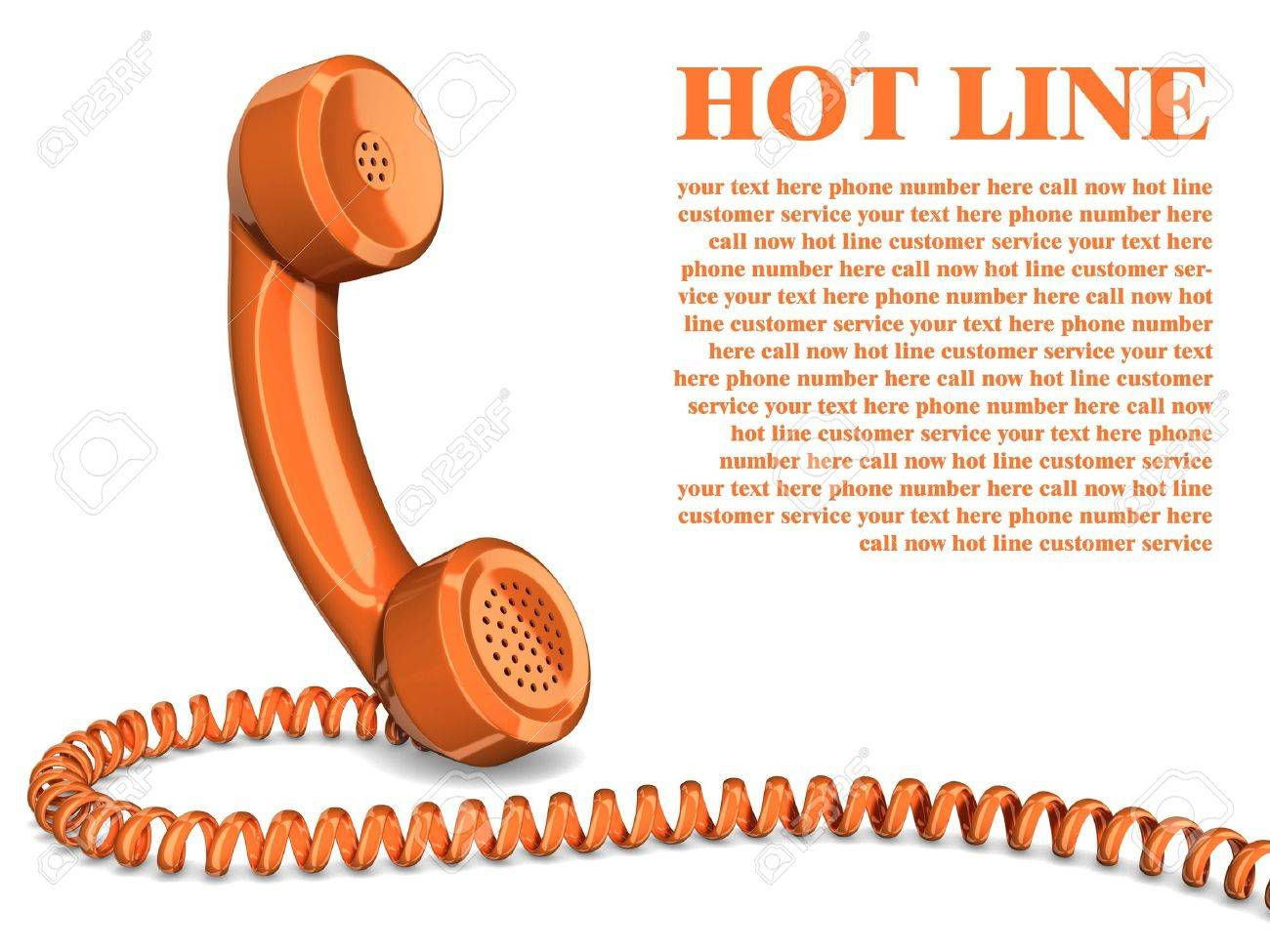 Telephone handset on white - contact 3d concept Stock Photo - 16592642