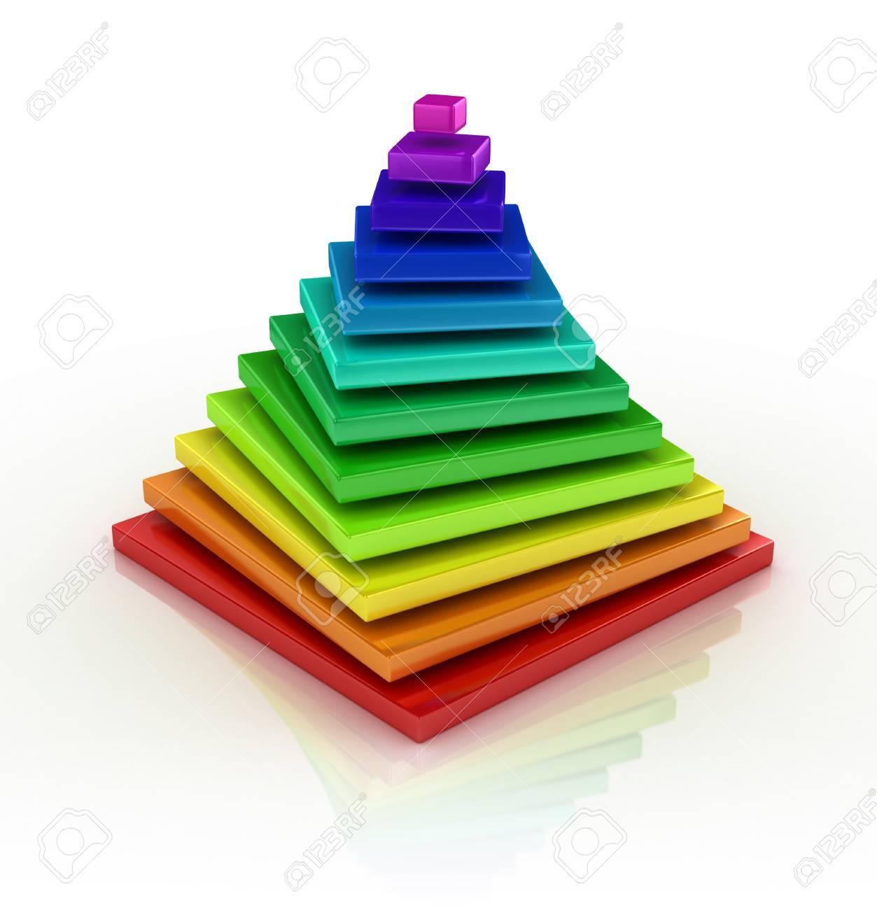 abstract colorful pyramid Stock Photo - 19776252