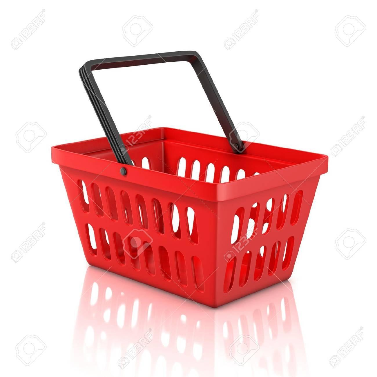 shopping basket isolated on white background Stock Photo - 19776223