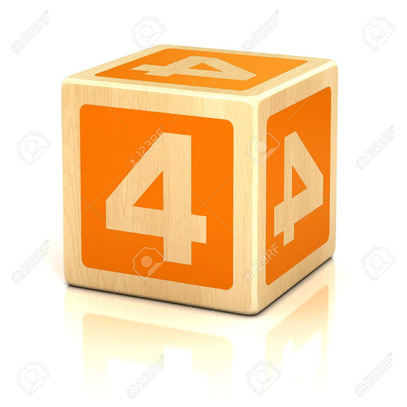 number four 4 wooden blocks font Stock Photo - 19775941