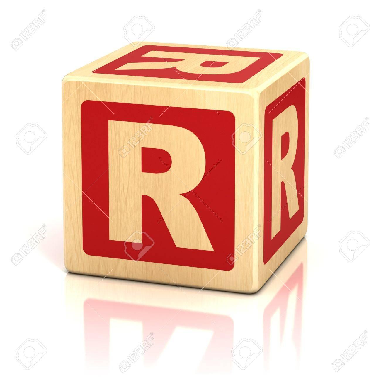 letter r alphabet cubes font Stock Photo - 19775963