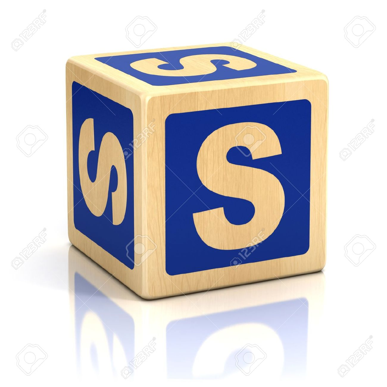 Letter S Alphabet Cubes Font Stock Photo Picture And Royalty Free