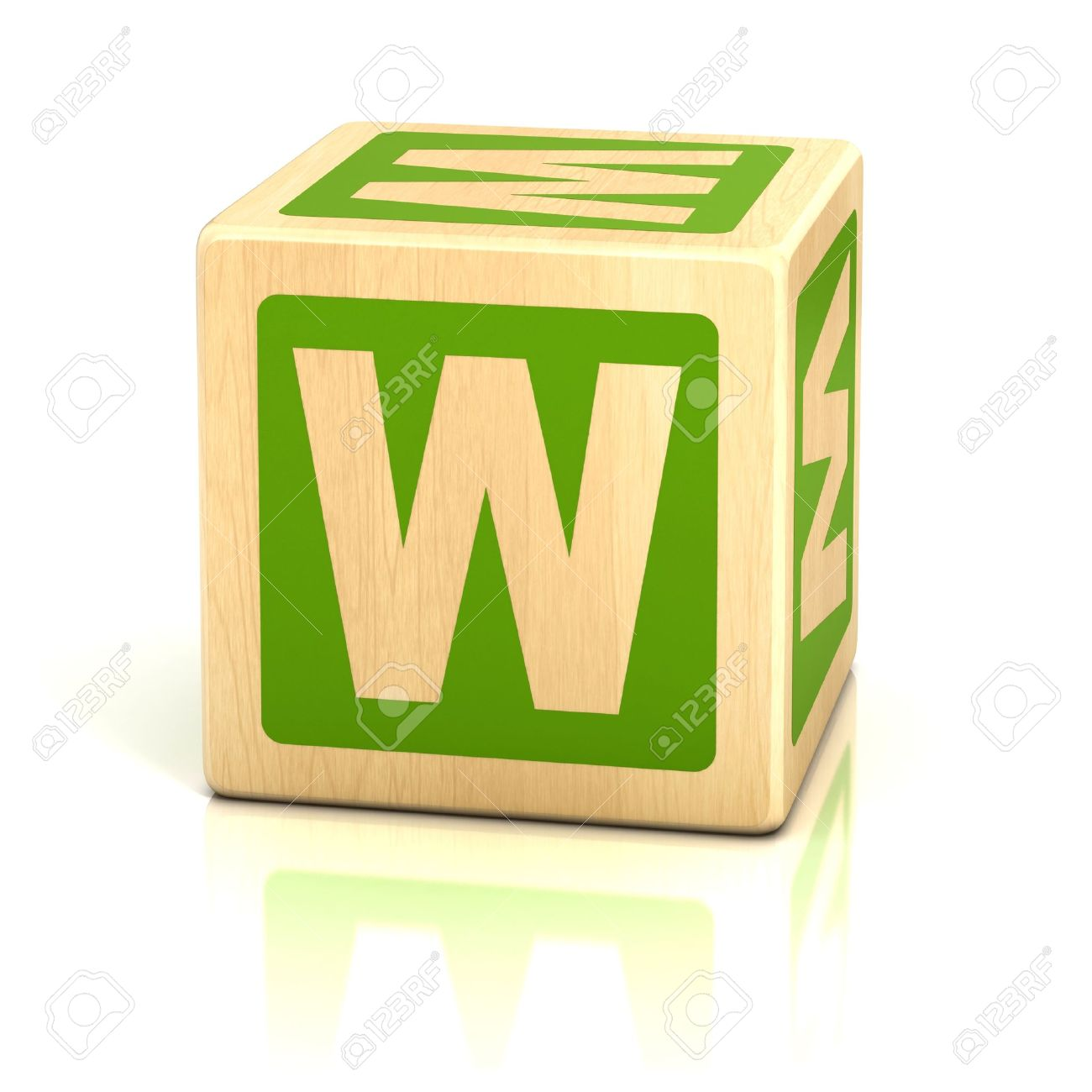 stock photo letter w alphabet cubes font