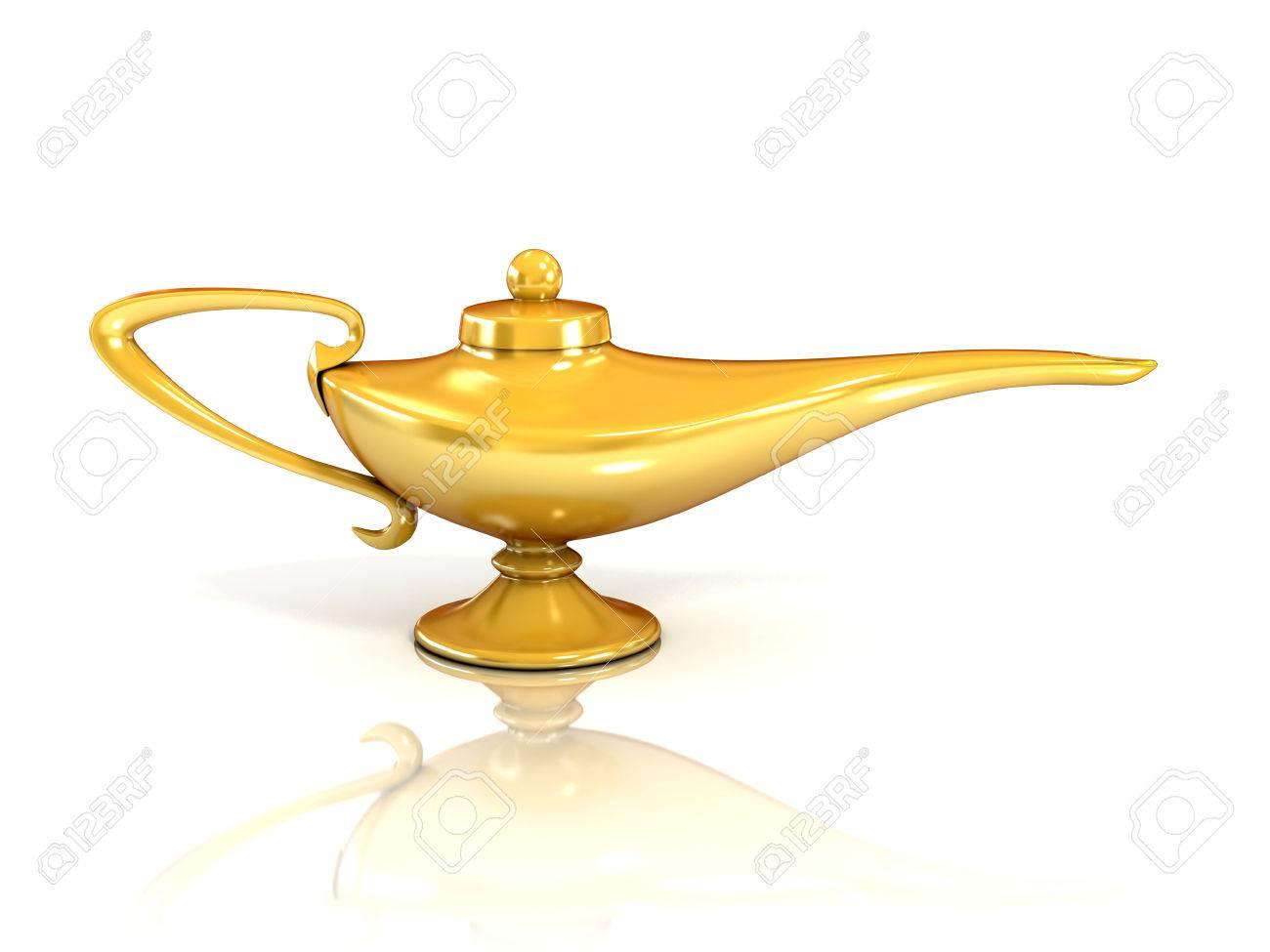 Aladdin Magic Lamp 3d Illustration Stock Illustration   37125690