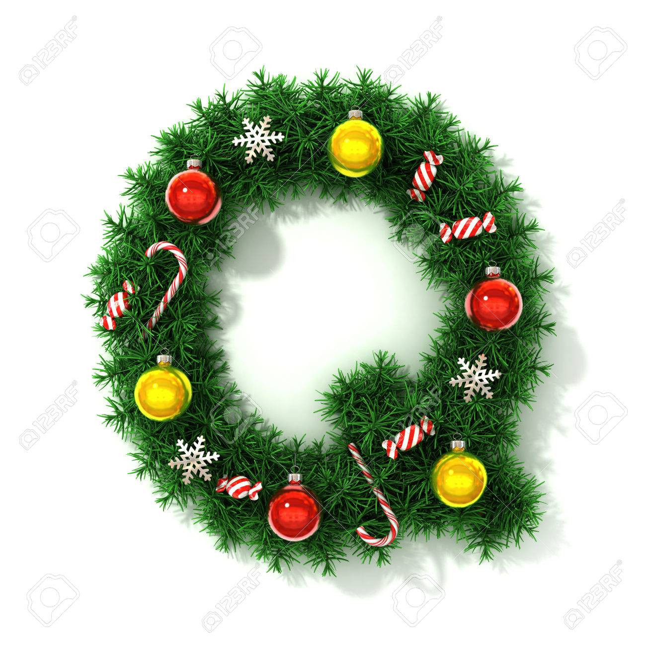 Christmas font letter Q Stock Photo - 40016217