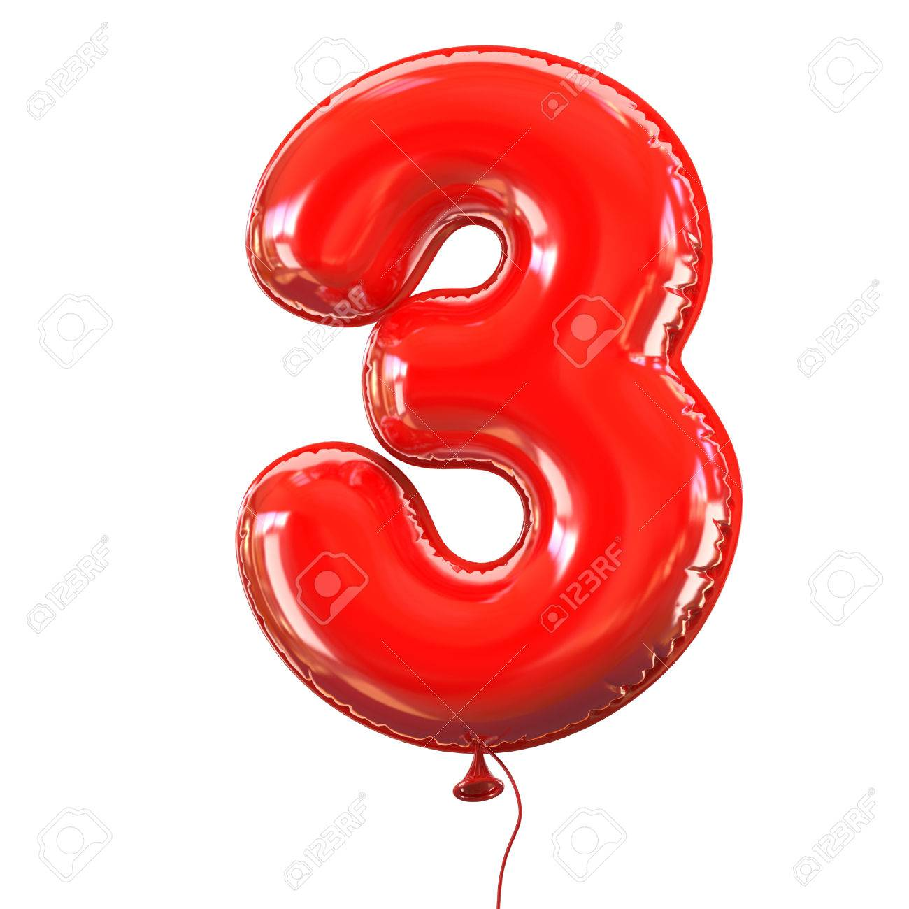 number five - 3 balloon font - 46401156