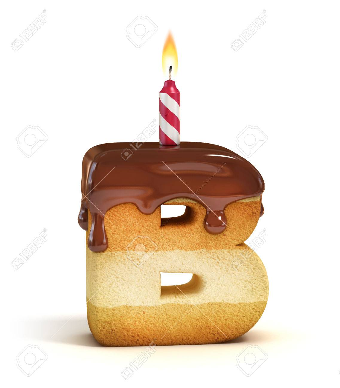 birthday cake font letter b stock photo 46401227