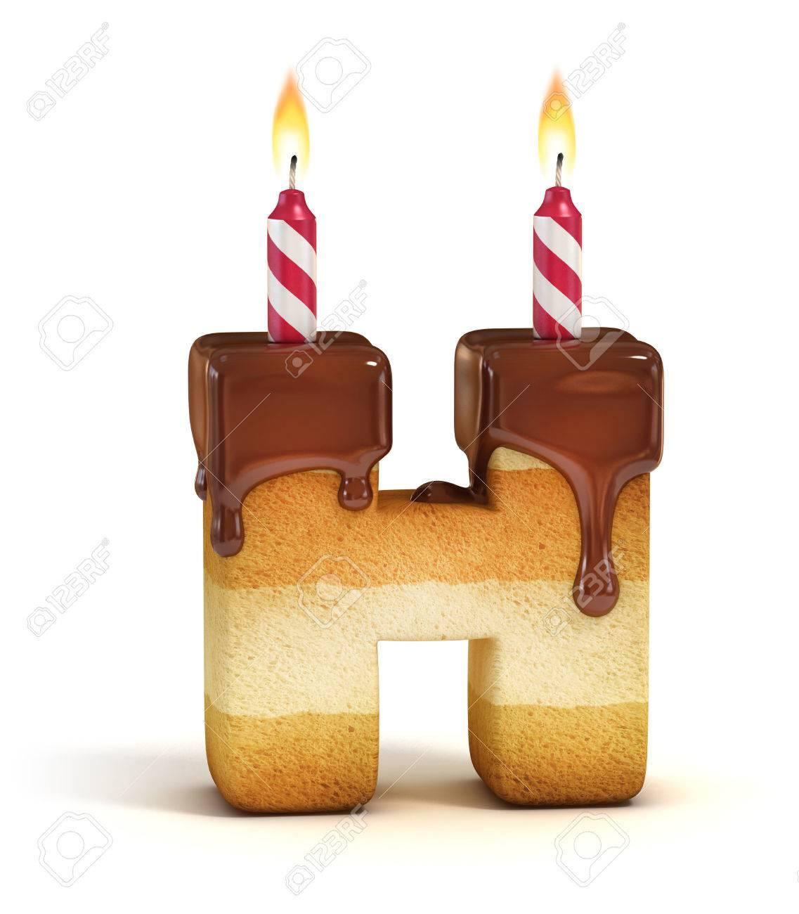 birthday cake font letter h stock photo 46401340