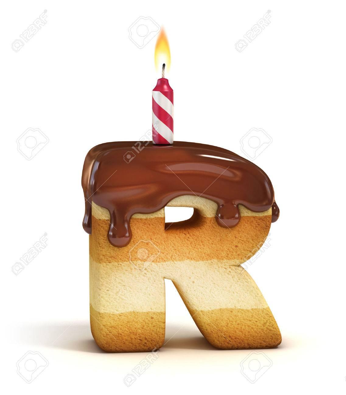 birthday cake font letter r stock photo 46401351