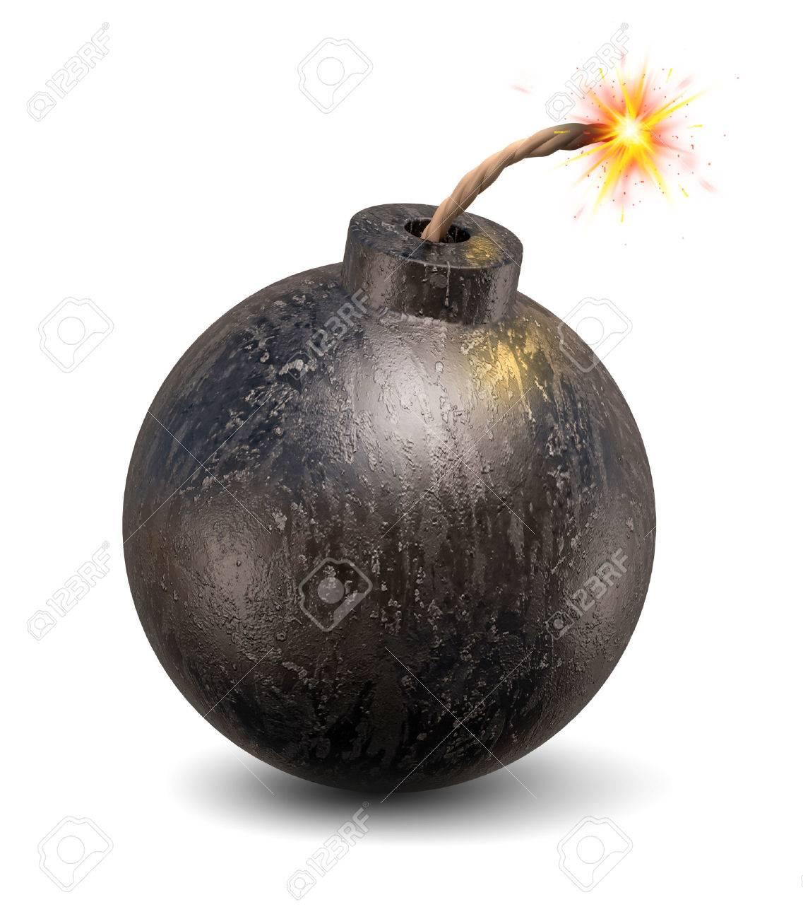 漫画の爆弾の 3 D 図 の写真素材・画像素材 Image 46401368.