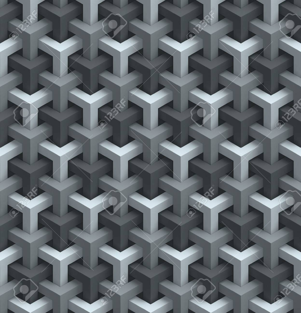 Seamless Wall Panels 3d Background Stock Photo Picture And