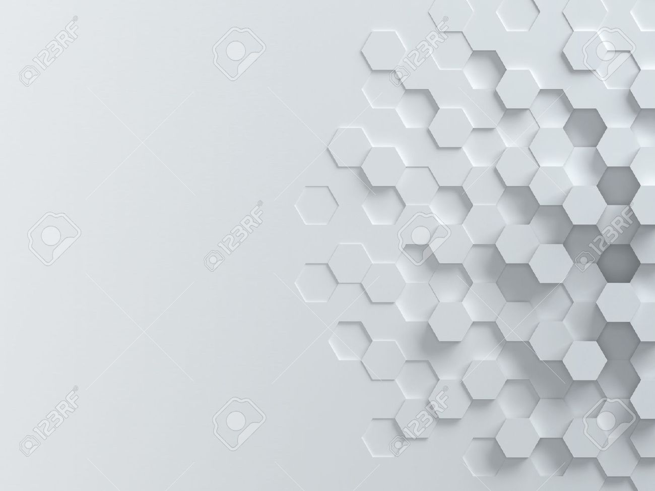 Hexagonal Abstract 3d Background Stock Photo Picture And Royalty