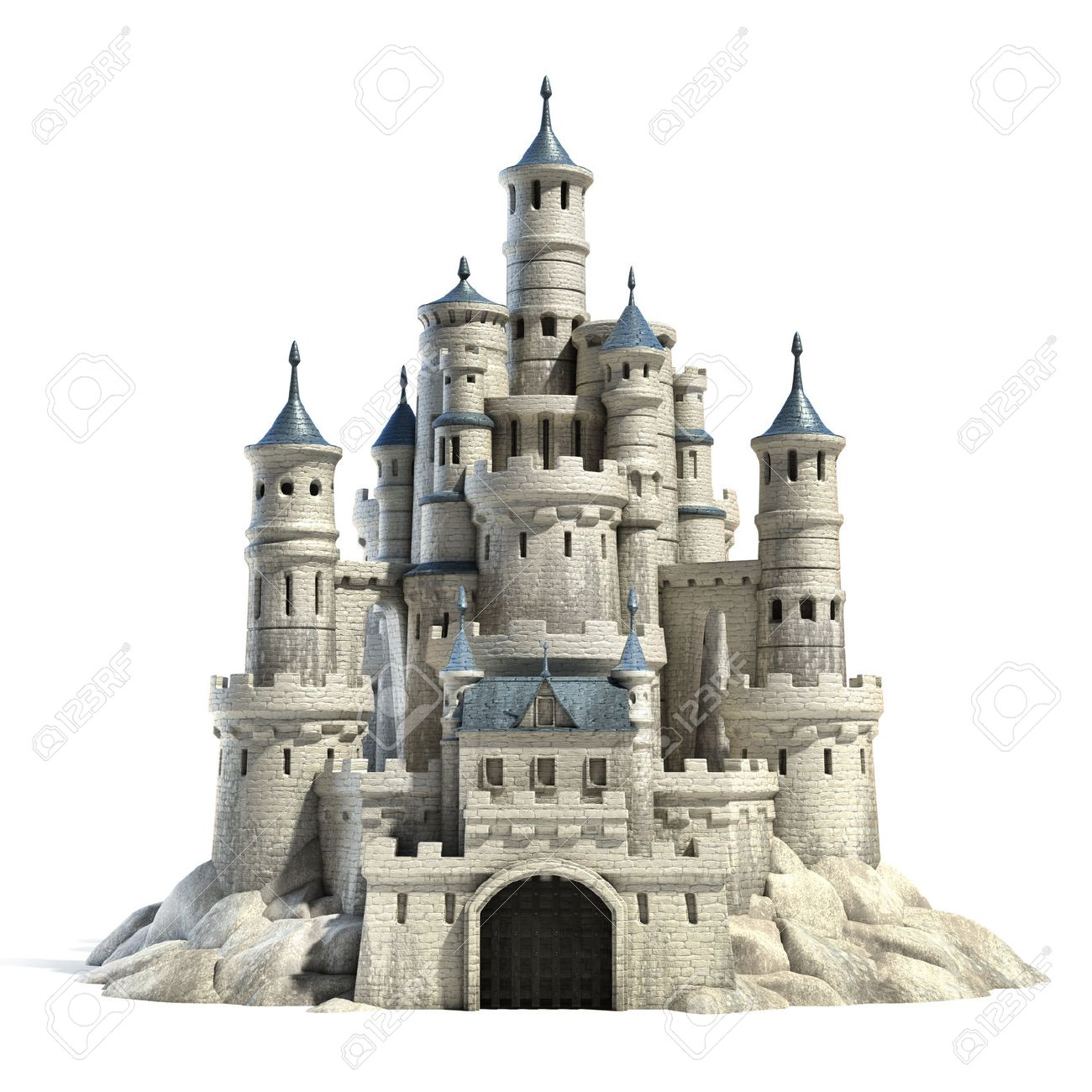castle 3d illustration - 46059740