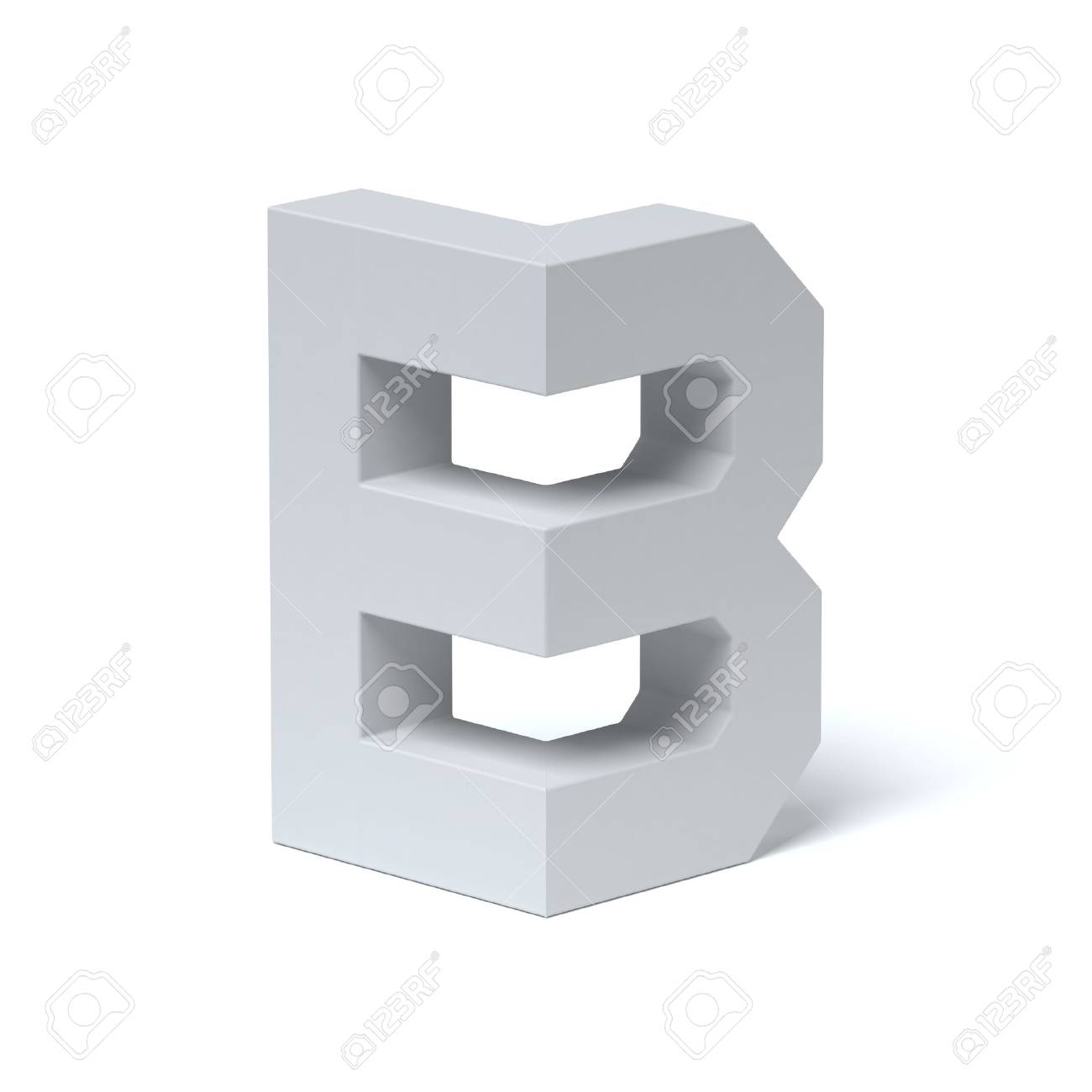 Isometric Font Letter B 3d Rendering Stock Photo, Picture And