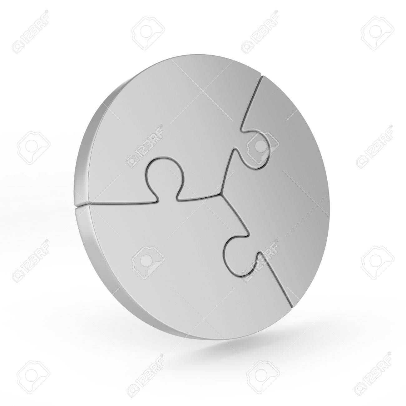 Three Piece Circular Puzzle Stock Photo, Picture And Royalty Free ...