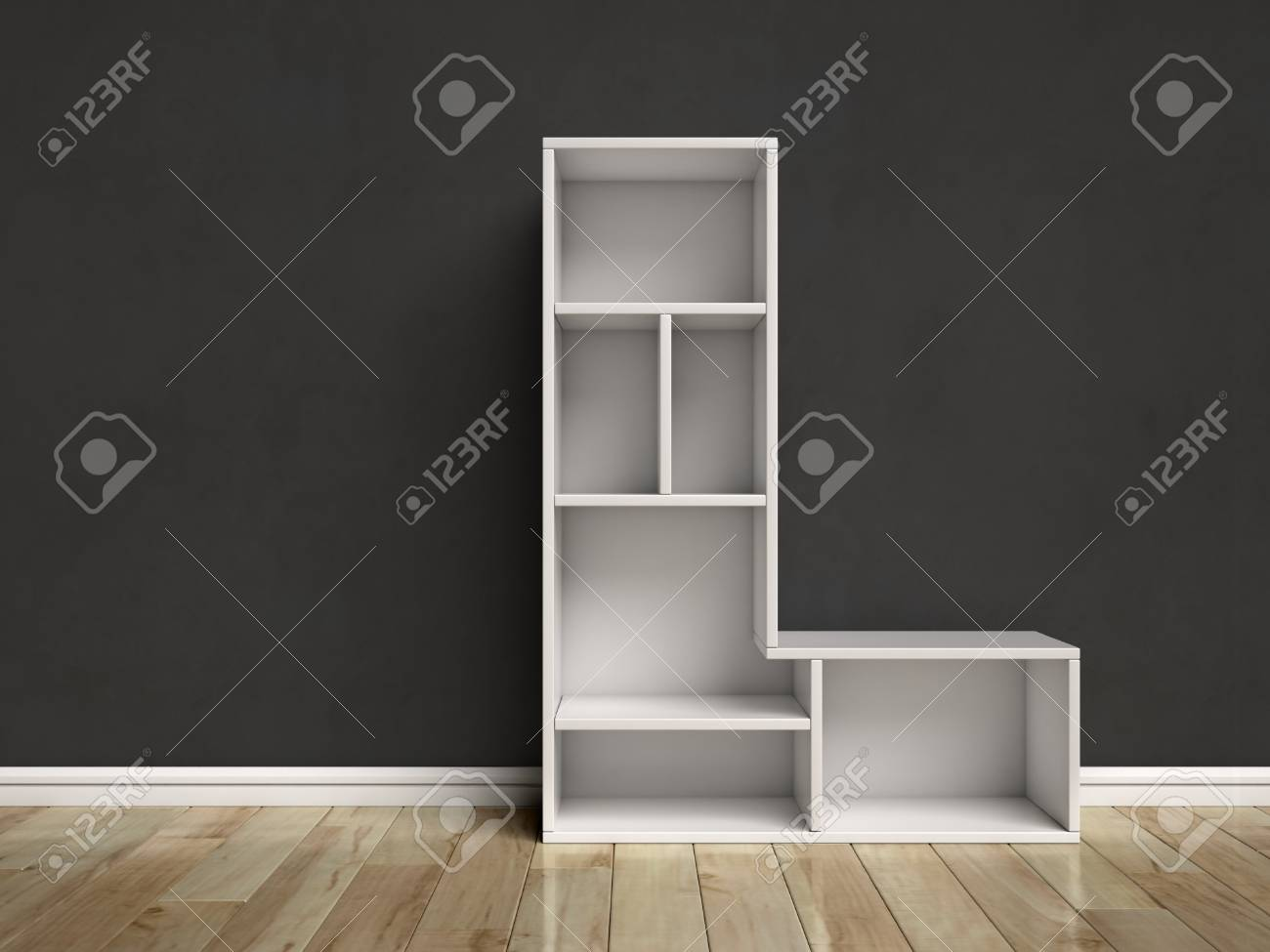 Letter L Shaped Shelves