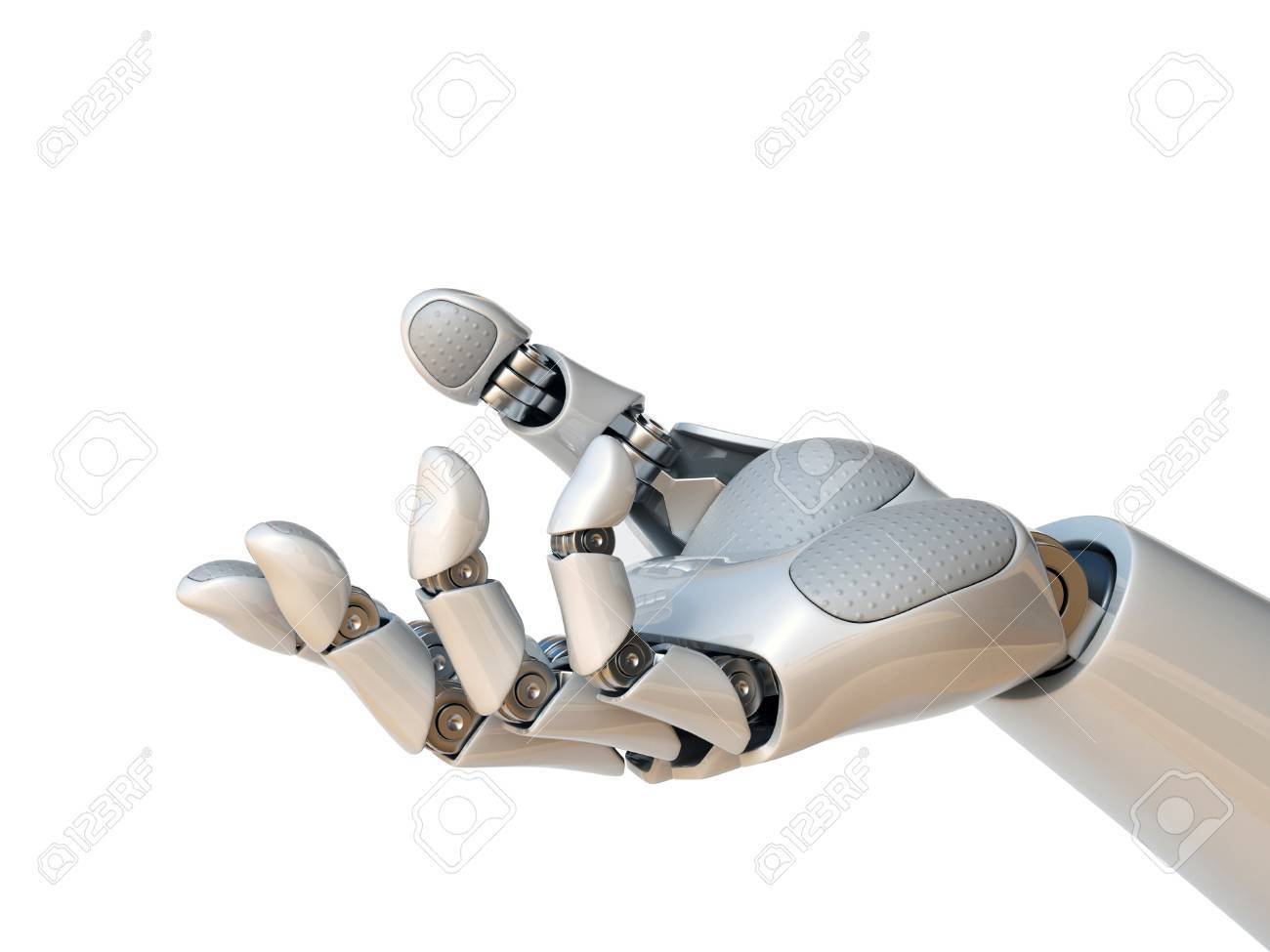 Robot hand reaching gesture or holding object 3d rendering - 88979881