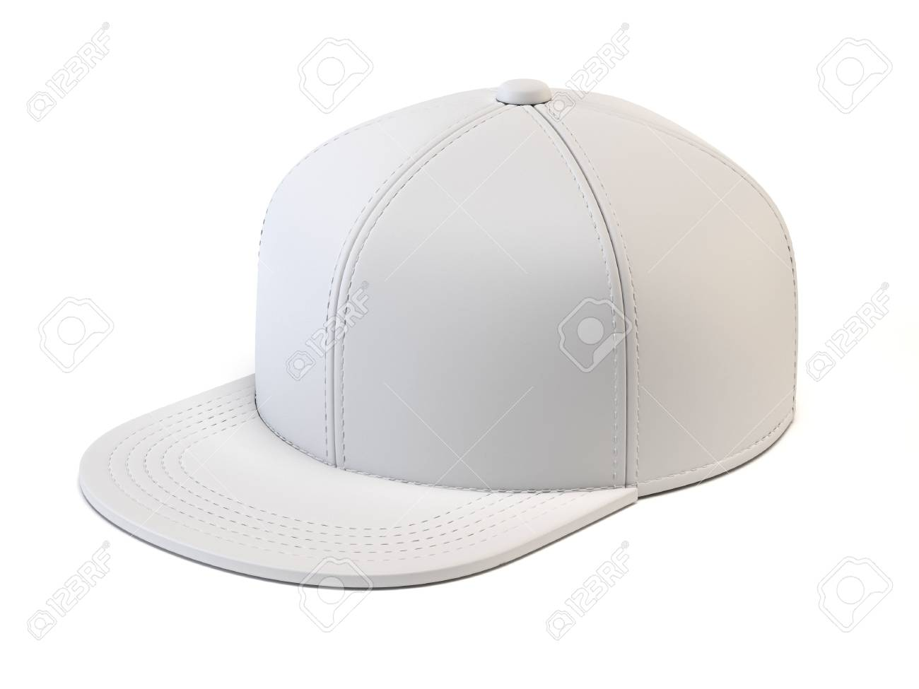 White Baseball Cap Mock Up Blank Hat Template Isolated On
