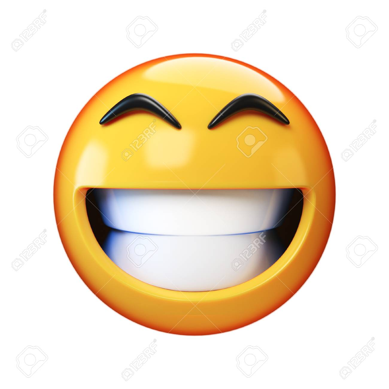 101829432-happy-emoji-isolated-on-white-