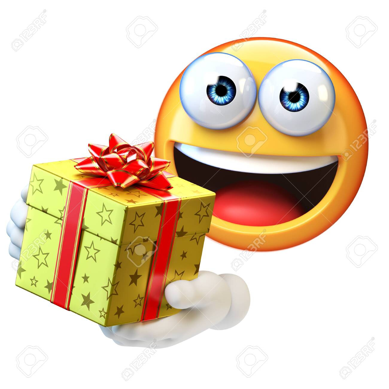 Emoji Holding Present Emoticon With Gift Box 3d Rendering Stock Photo Picture And Royalty Free Image Image 131679879 About 0% of these are business & promotional gifts, 0% are resin crafts, and 0% are artificial crafts. 123rf com