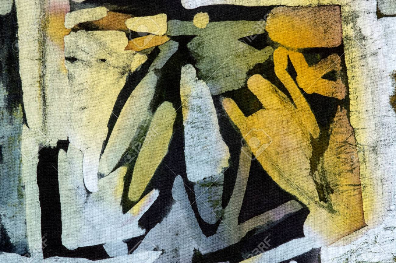 Abstraction, Hot Batik, Background Texture, Handmade On Cloth ...