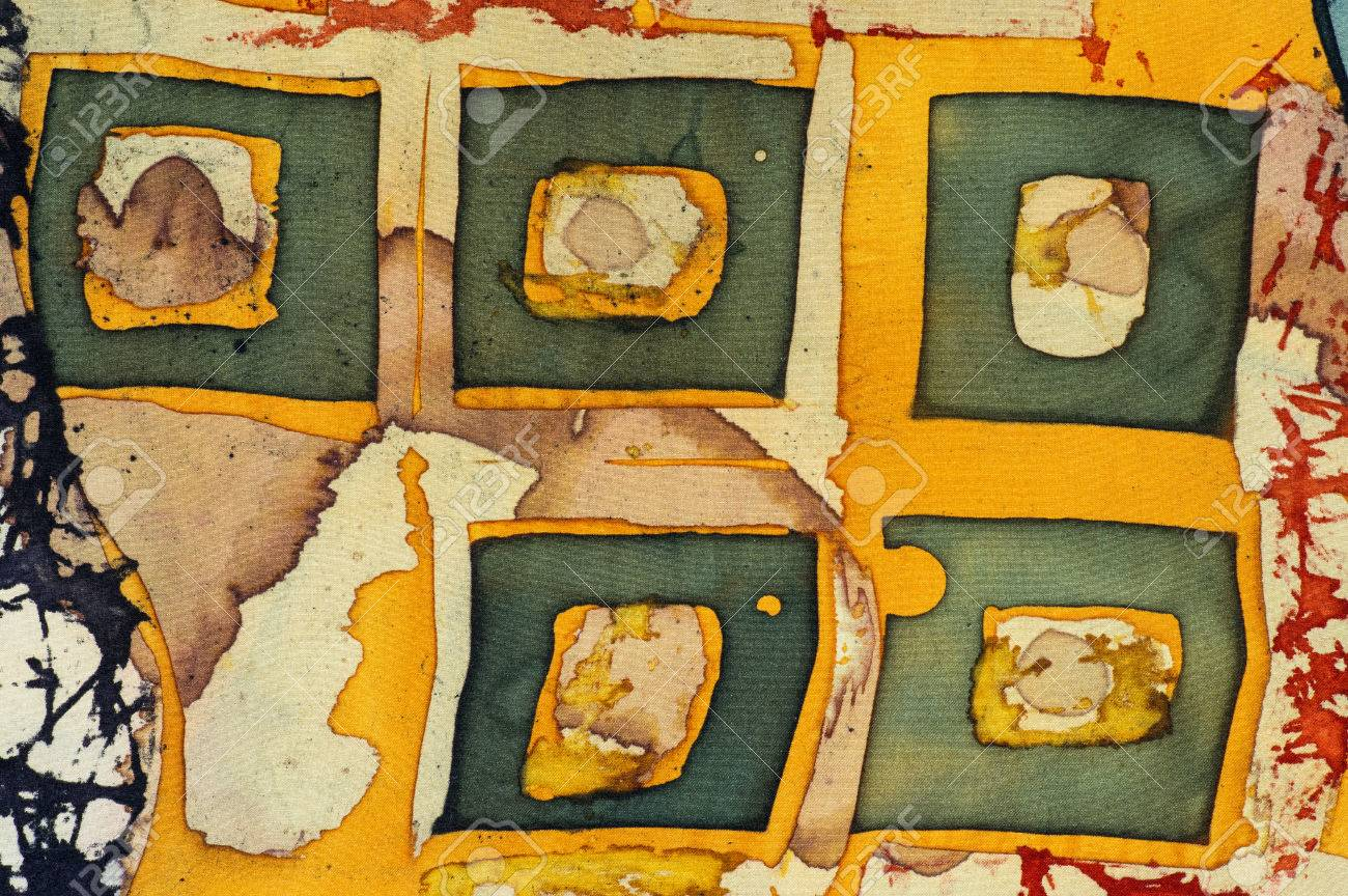 Squares, Fragment, Hot Batik, Background Texture, Handmade On ...