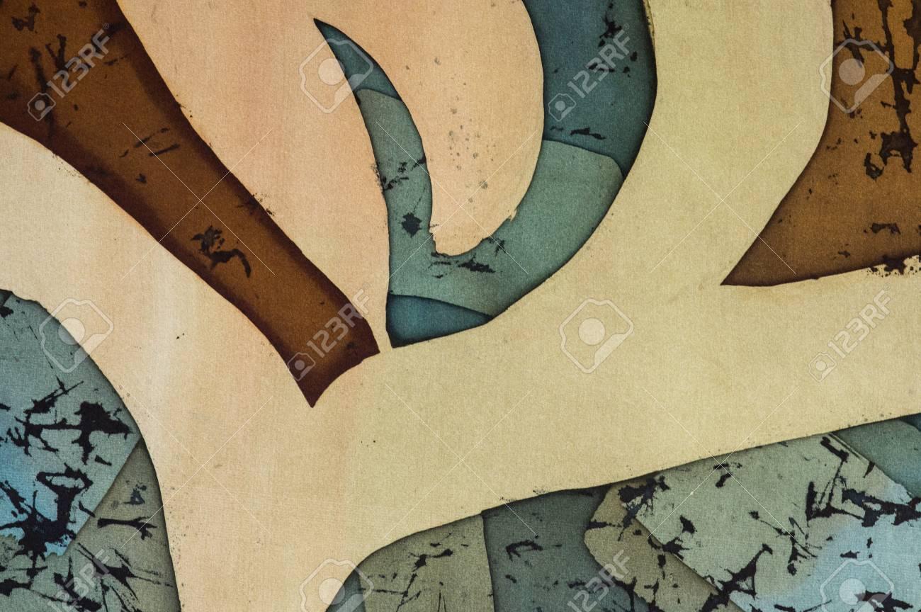 Ornament, Fragment, Hot Batik, Background Texture, Handmade On ...