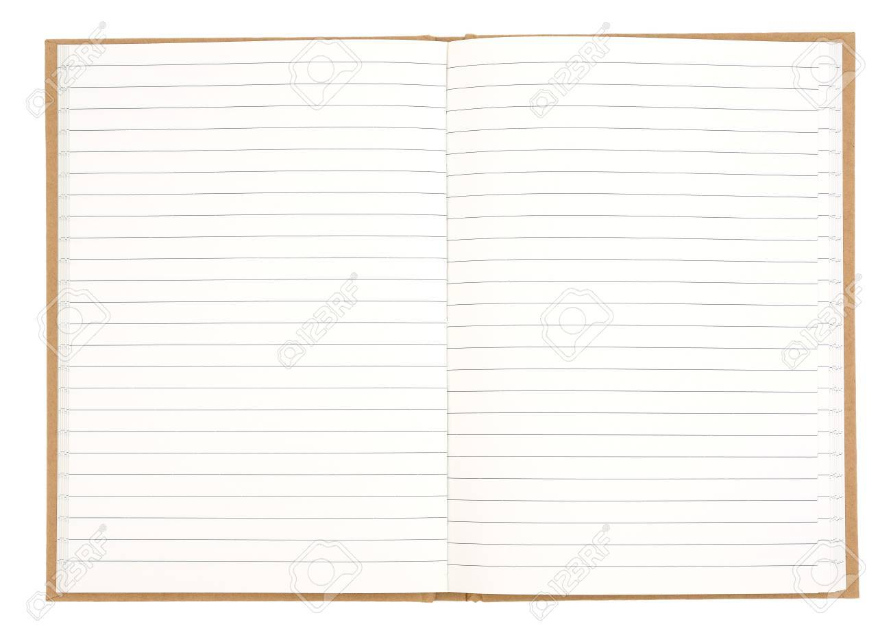 Blank Lined Exercise Book Isolated On White Background Stock Photo ...