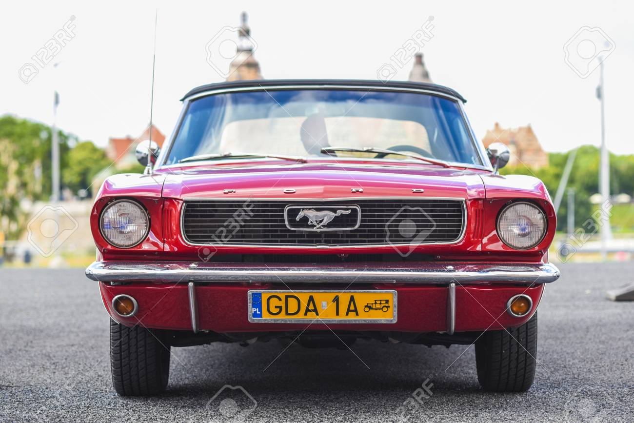 Szczecin poland july 17 2017 ford mustang 289 front view