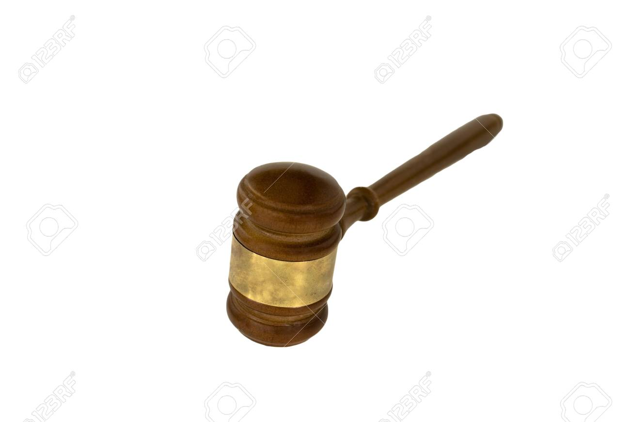 Gavel, used by judge, chairman, or auctioneer. Stock Photo - 4075430