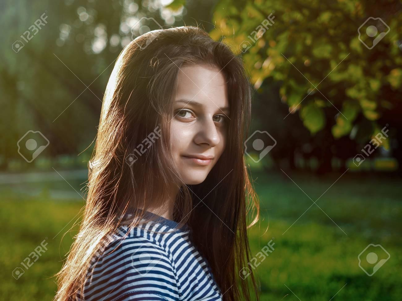 Braune haare natur
