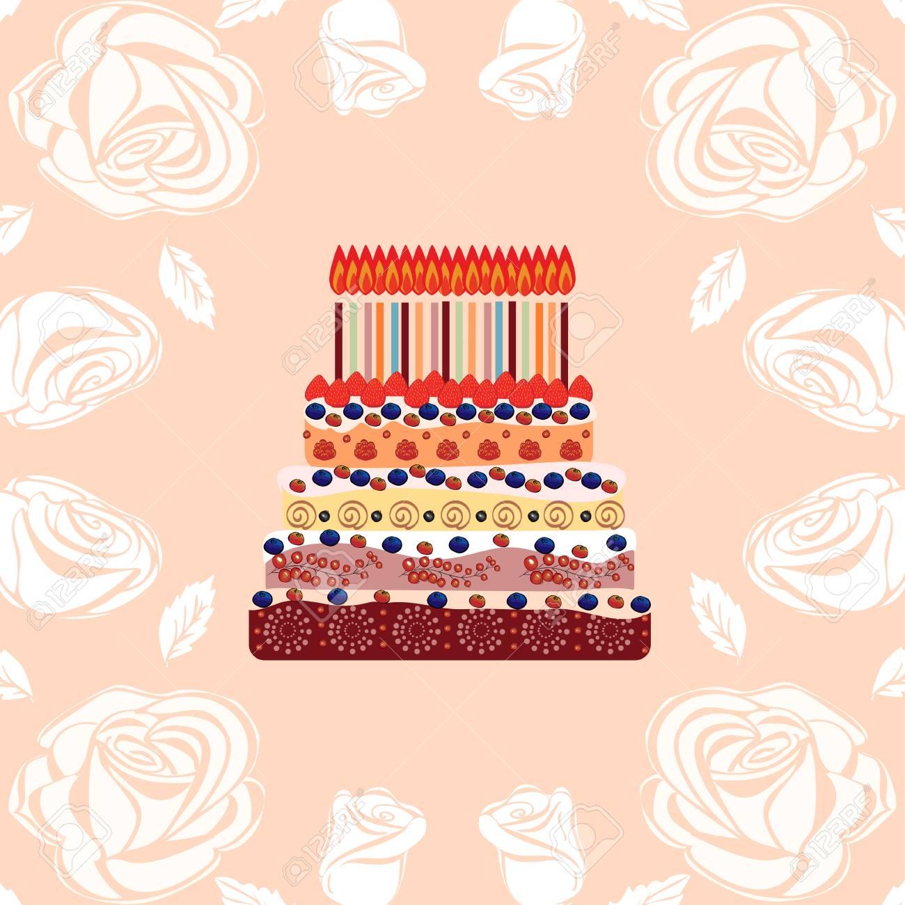 Gâteau Danniversaire Avec Dix Huit Bougies Dix Huit Ans Un Gâteau Avec Des Bougies Pour Son Anniversaire Fêtes Et Célébrations