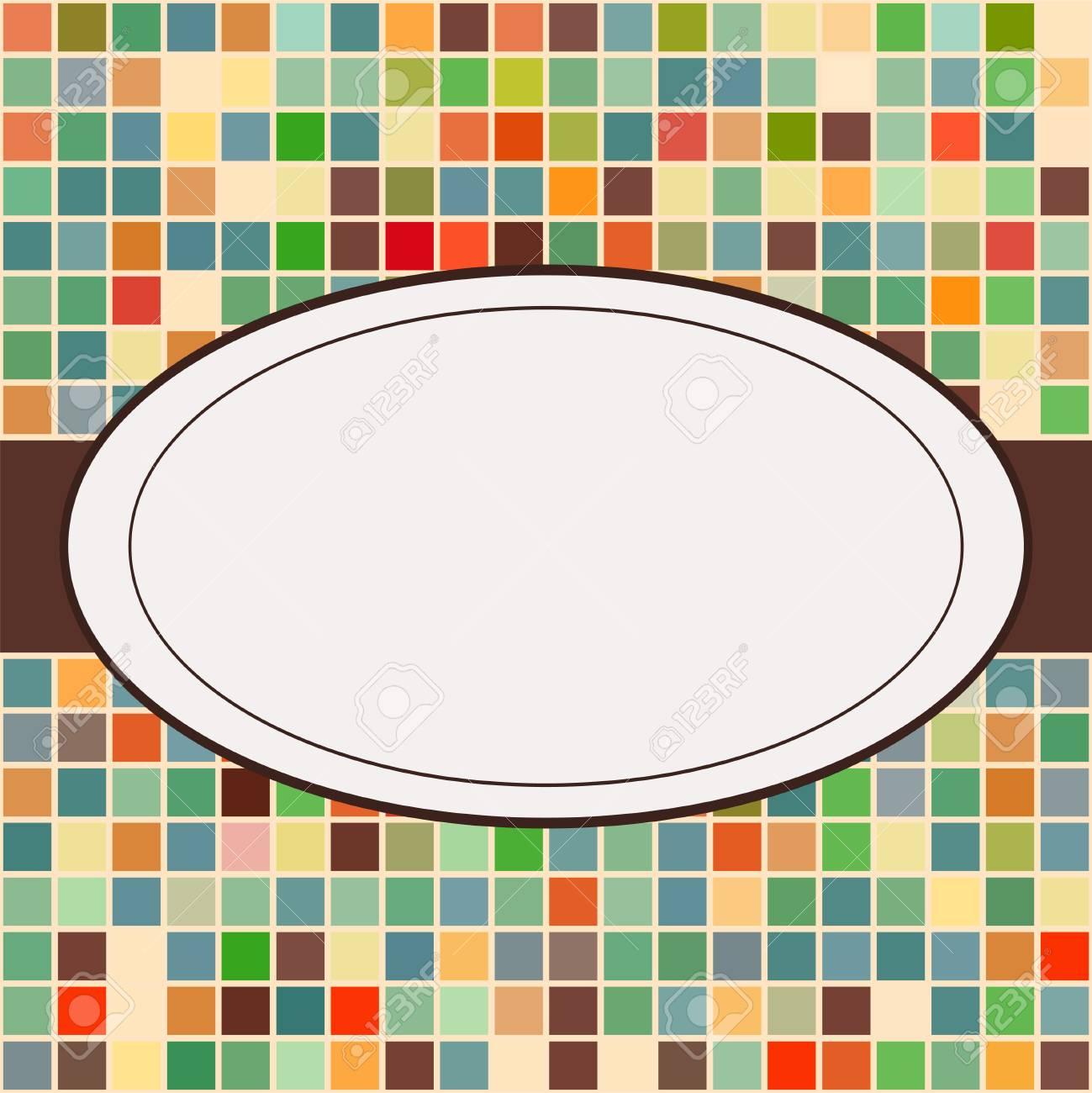 Mosaik-Rahmen Platz Für Text Einladung Lizenzfrei Nutzbare ...