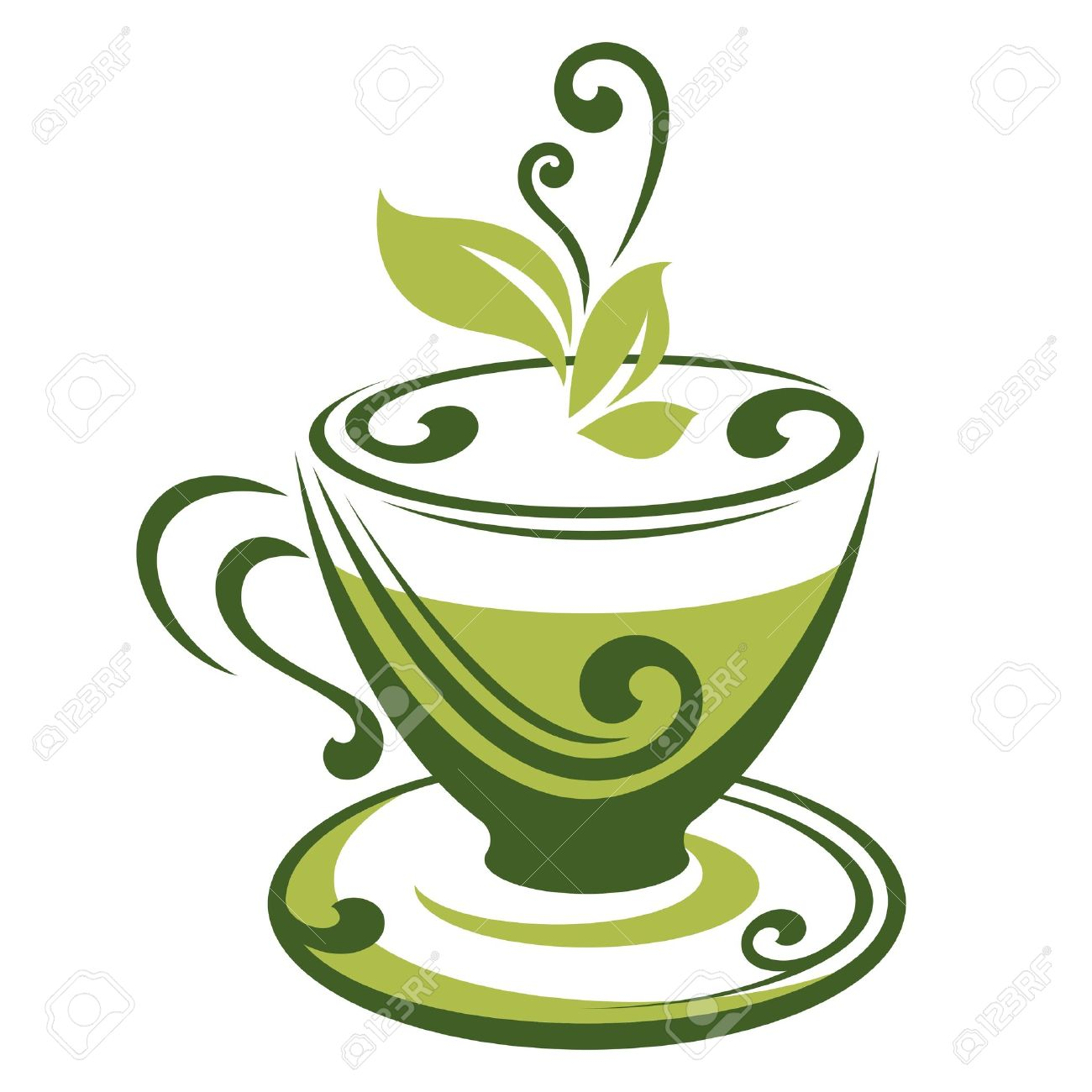 vector icon of green tea cup royalty free cliparts vectors and rh 123rf com tea cup vector image tea cup vector free