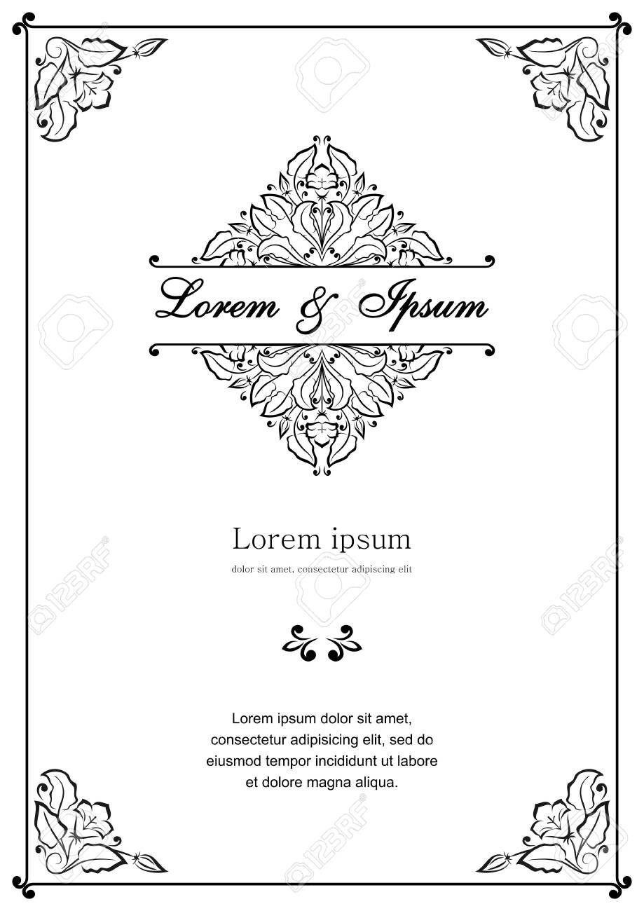 Floral pattern for invitation or greeting card - 156462070