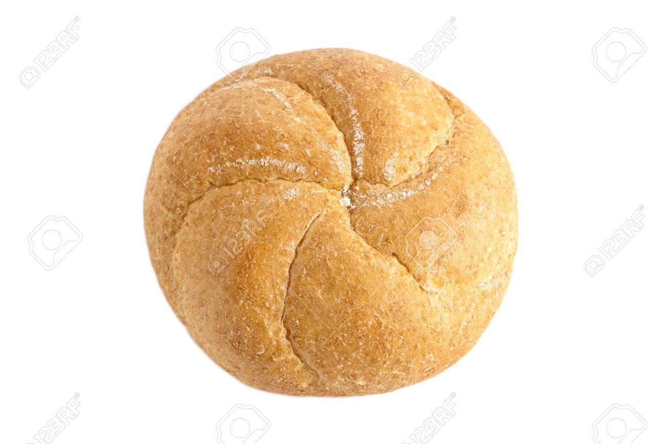 Freshly baked kaiser bun isolated in a  white background Stock Photo - 15378812