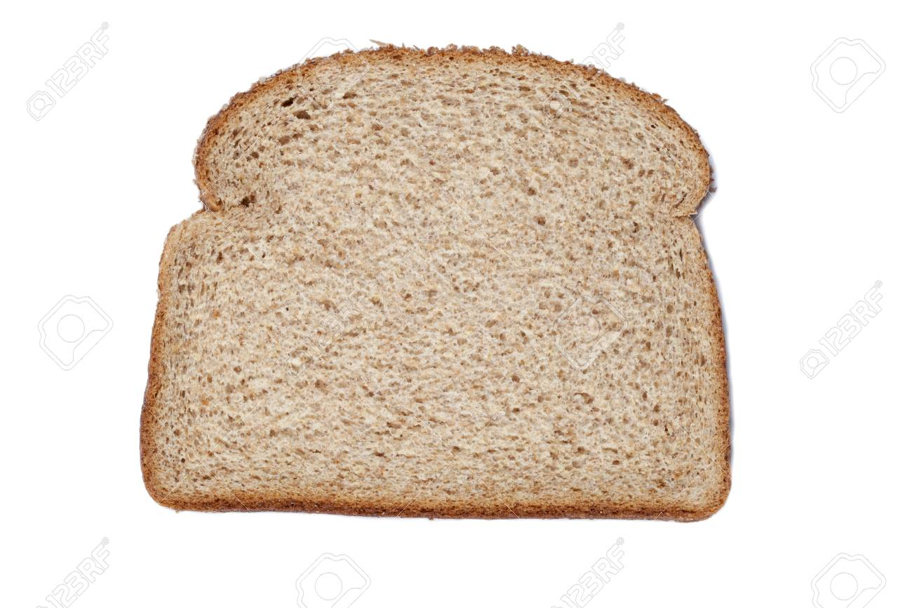 Sliced of whole wheat bread against white background Stock Photo - 15378714