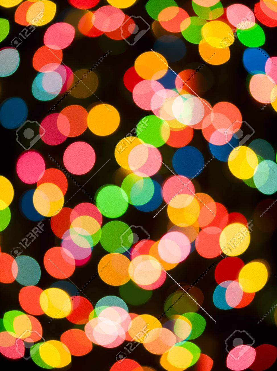 Colorful defocussed light at night. Stock Photo - 15543098