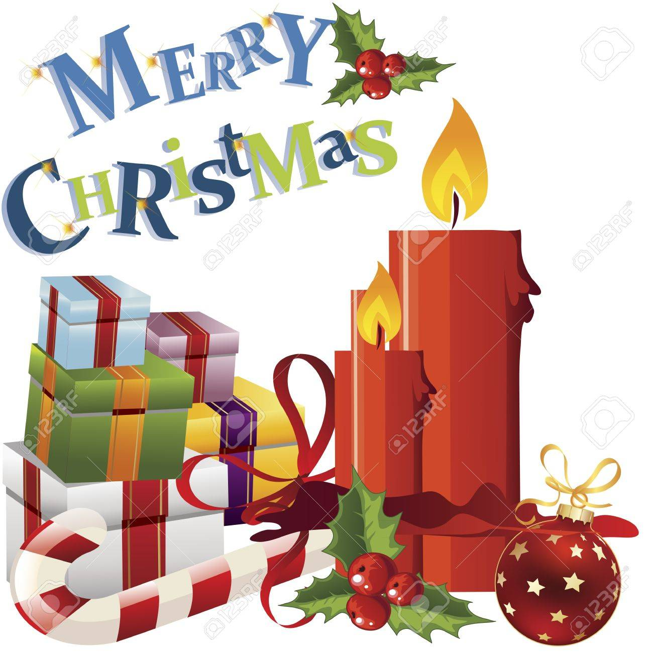 Christmas Card Clip Art.Christmas Greeting Card Clip Art