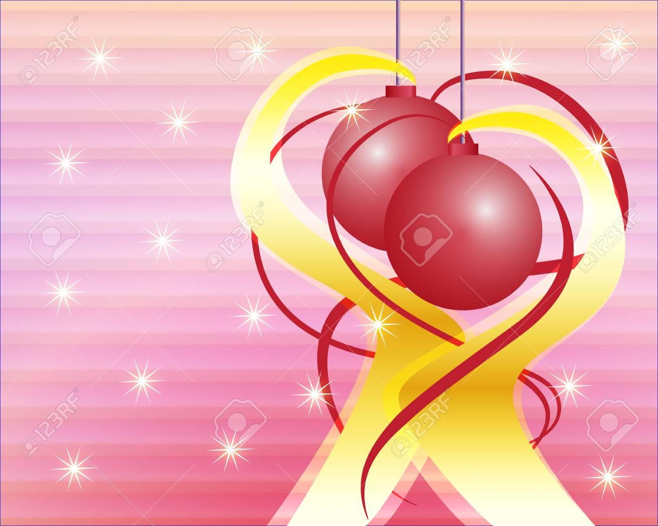 Clip art illustration of decorative Christmas background Stock Illustration - 15616942