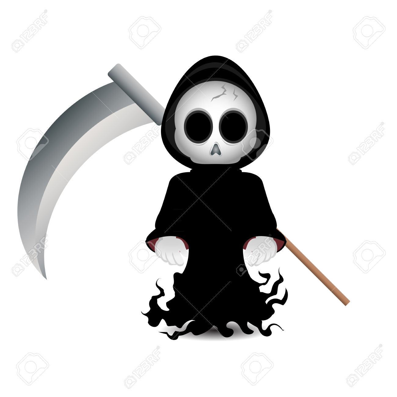cute grim reaper clip art for halloween stock photo picture and rh 123rf com grim reaper clipart black and white