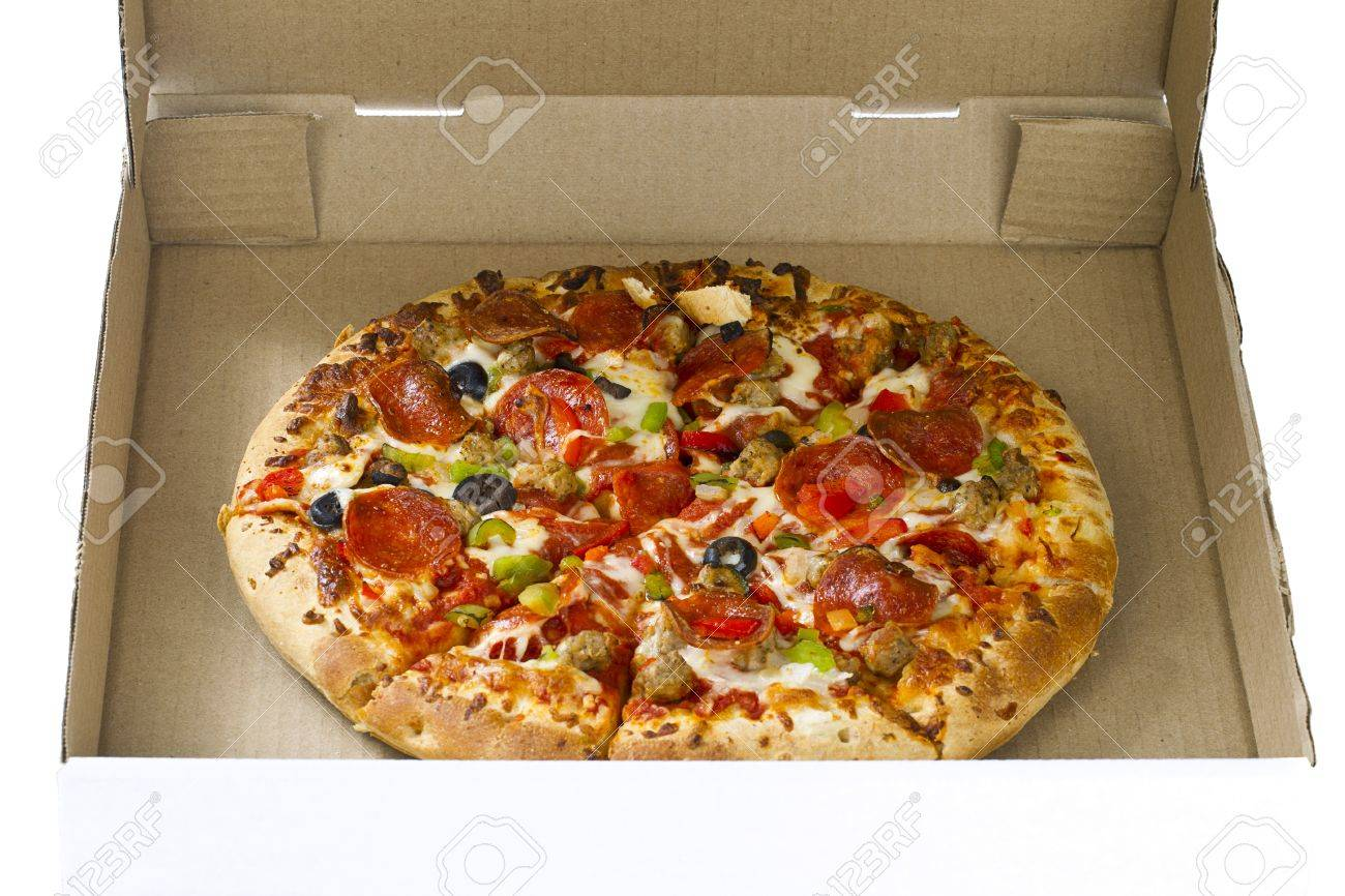 Close-up shot of pizza packet on white background. Stock Photo - 15840043