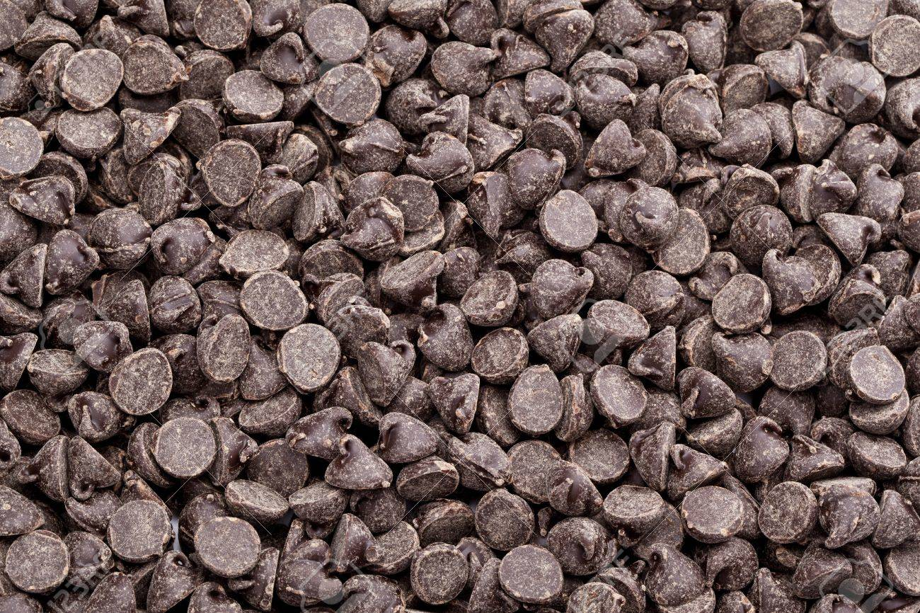 Close-up shot of pile of chocolate morsels Stock Photo - 16193647