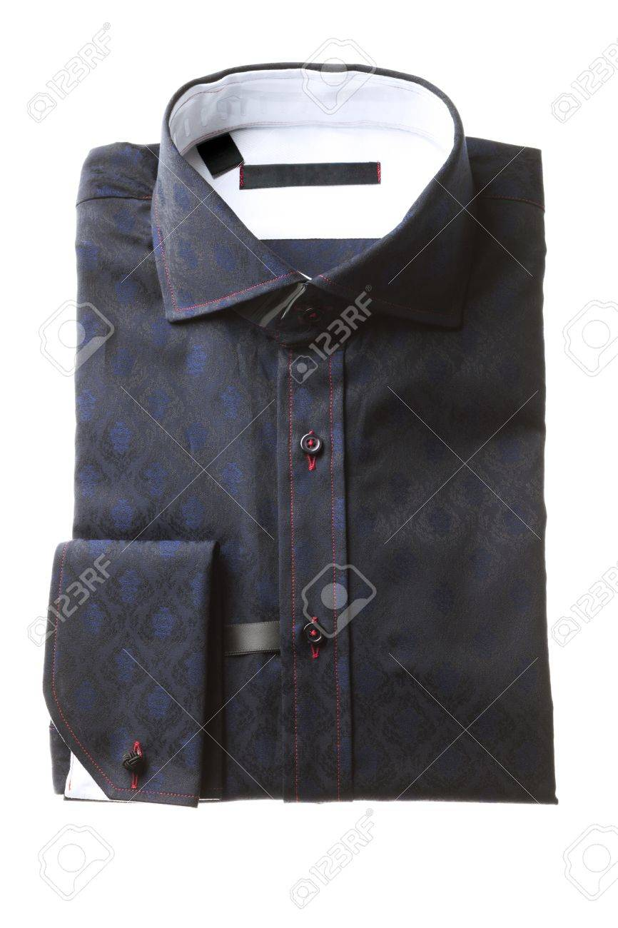 A close-up image of folded man shirt with pocket on the side Stock Photo - 16209324